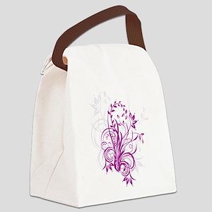 PURPLE SWIRLS [5] Canvas Lunch Bag